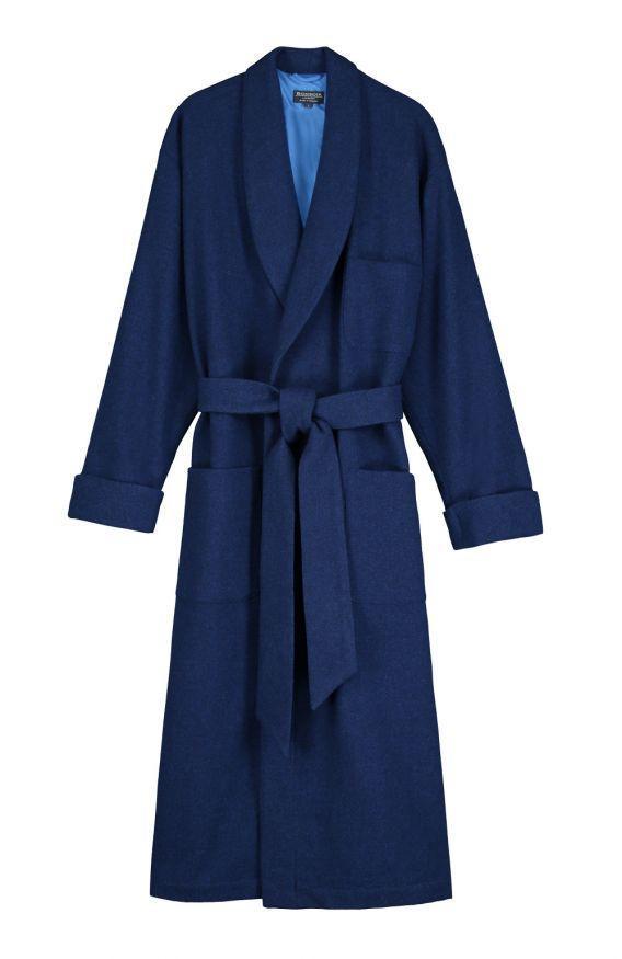 Bonsoir navy wool dressing gown
