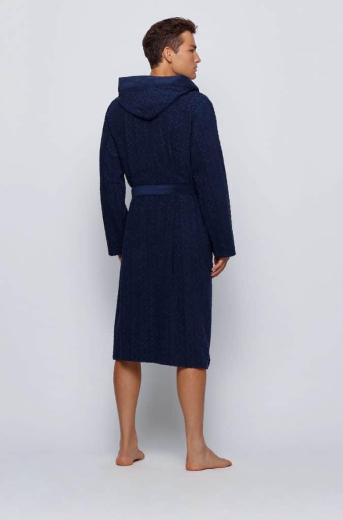 hooded men's dressing gown