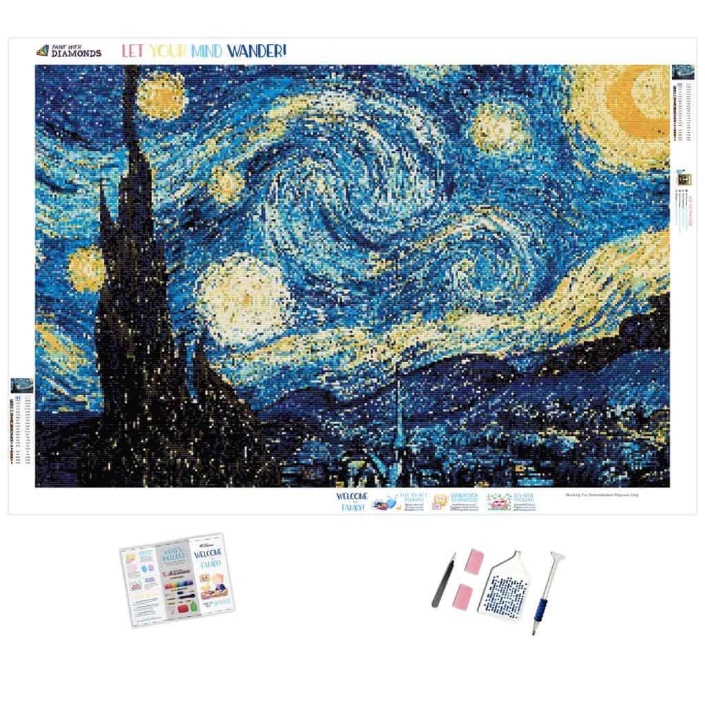 Starry night diamond painting kit