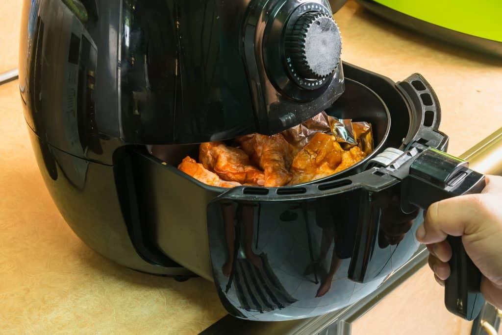 cooking frozen chips using an air fryer