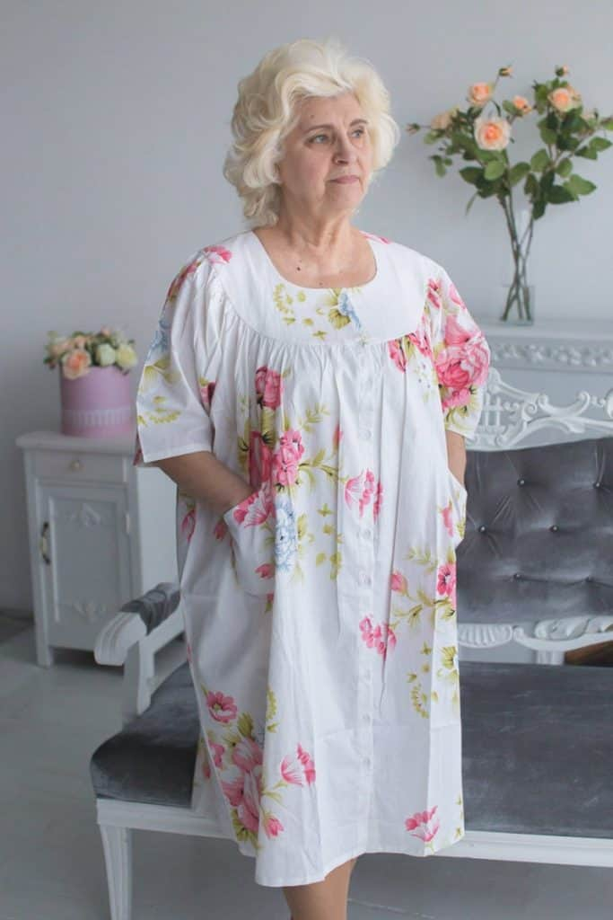 Silk and More's housecoat for the elderly