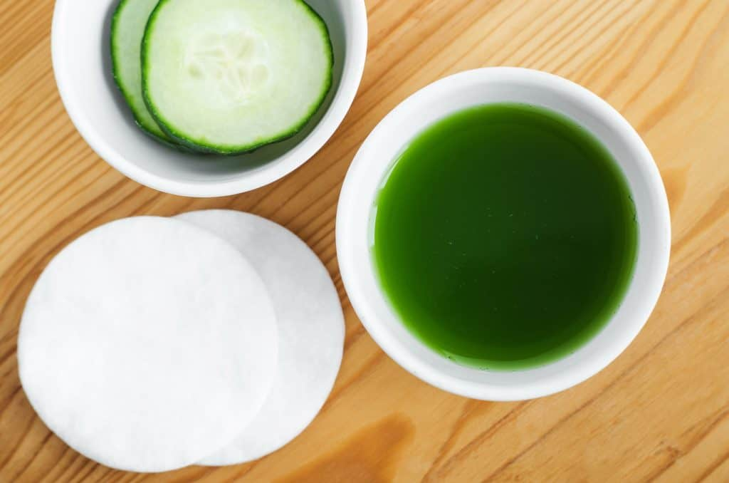 cucumber toner in a small bowl
